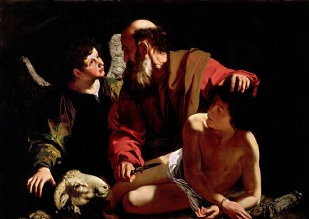 Caravaggio, Michelangelo Merisi da: The Sacrifice of Isaac. Fine Art Print/Poster. Sizes: A4/A3/A2/A1 (002084)